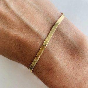 Free People 14k Gold Fill Snake Bracelet Brand New